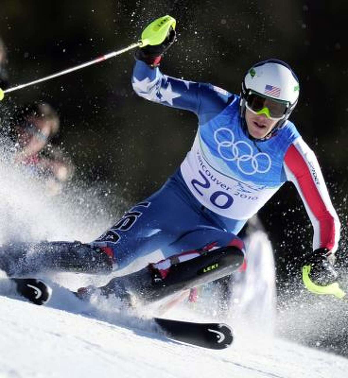 Bode Miller came back from seventh place with a strong performance in the slalom portion.