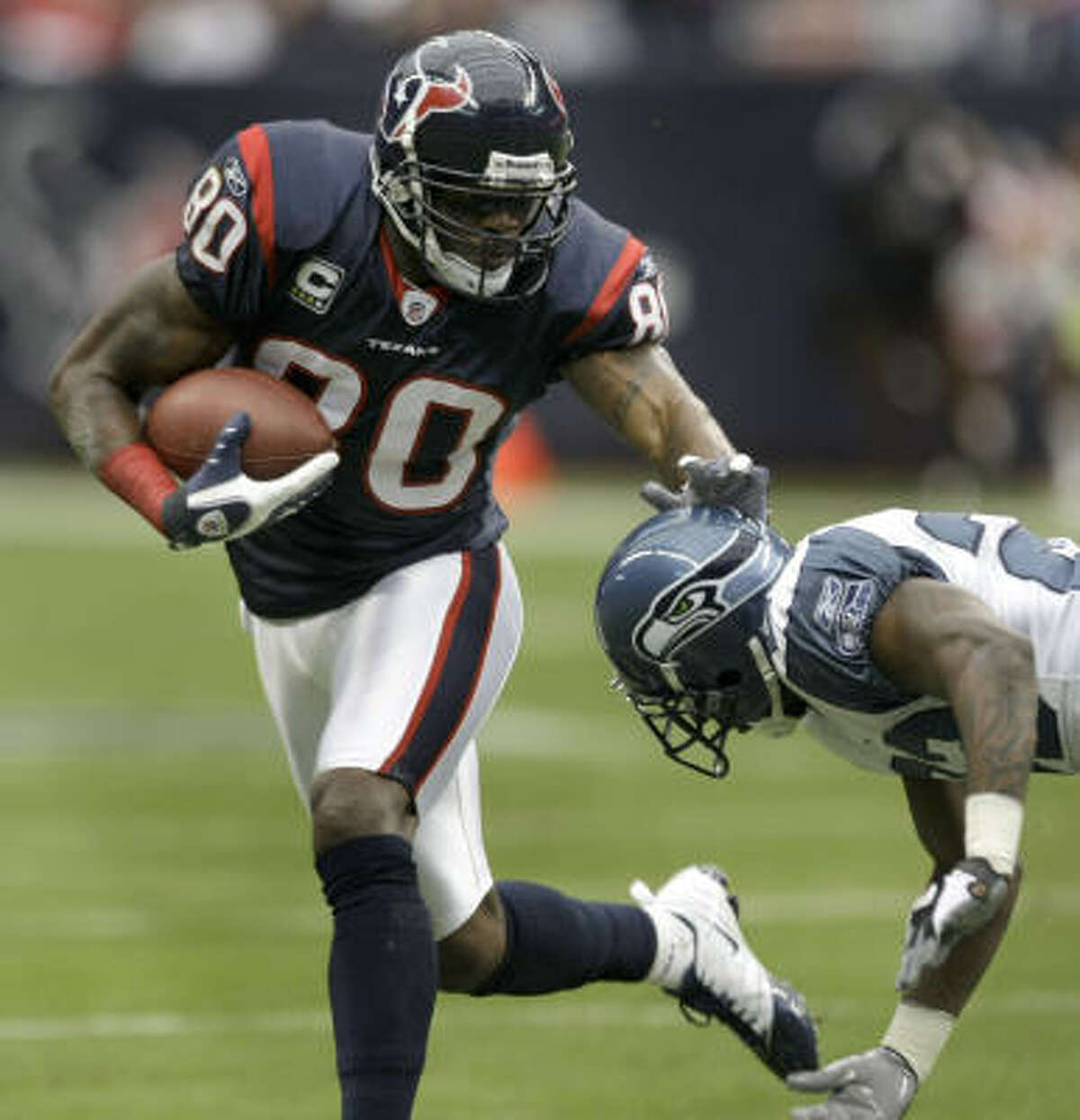 Texans wide receiver Andre Johnson has been selected to the Pro Bowl in four of his seven NFL seasons.