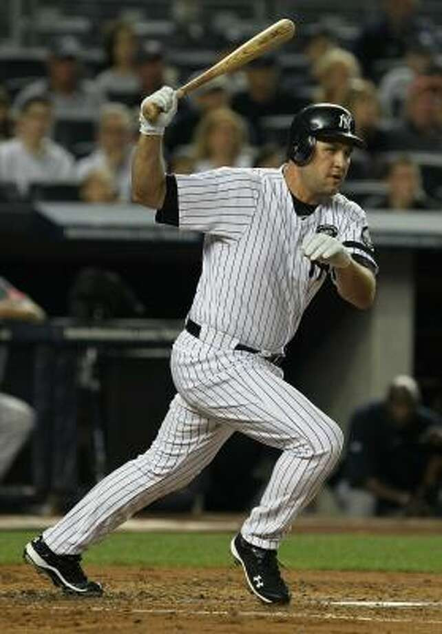 Lance Berkman got a taste of the Yankees-Red Sox rivalry last Sunday. Photo: Al Bello, Getty Images