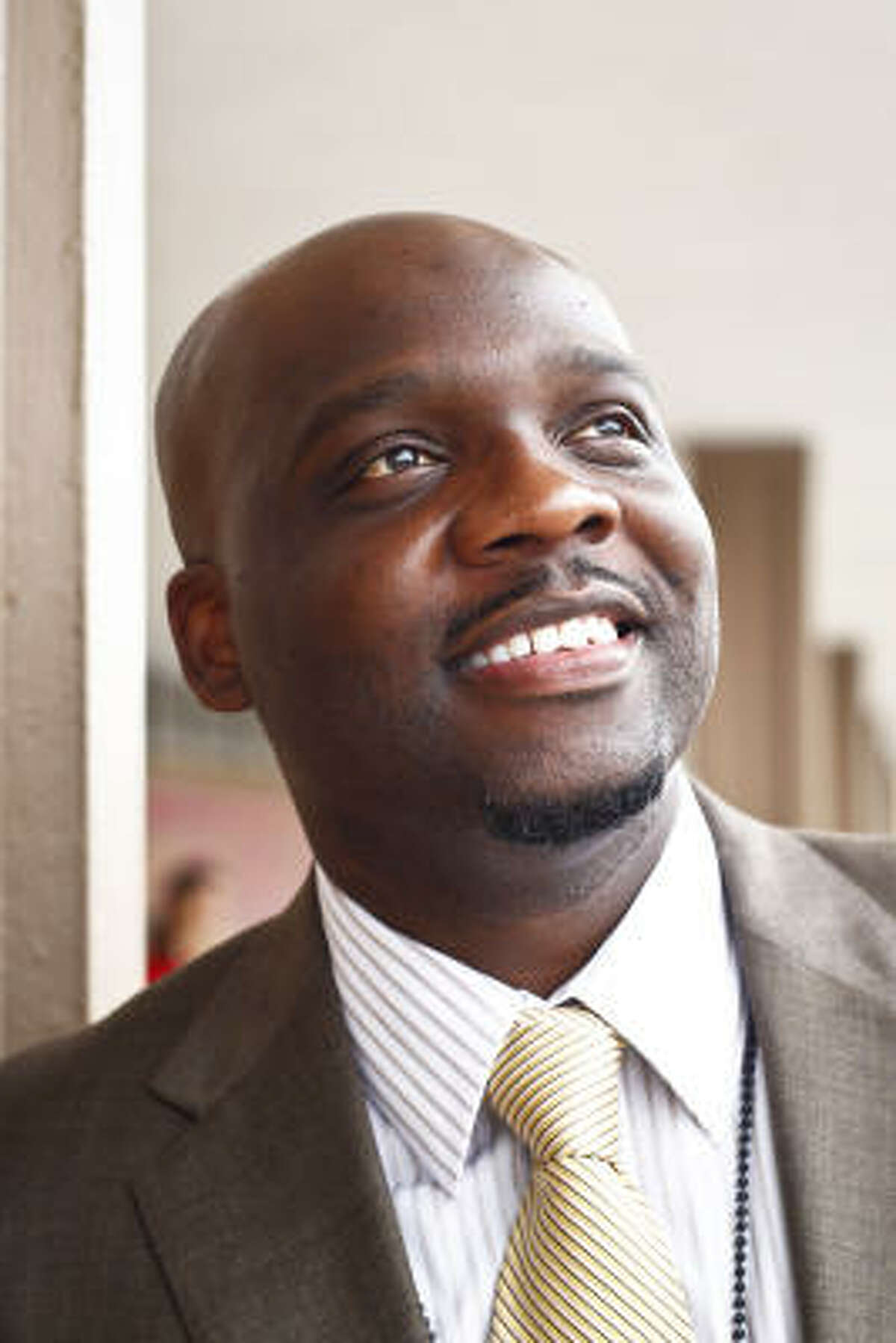 Lannie Milon Jr., the new principal of HISD's Thomas Middle School, has given his campus the feel of a university.