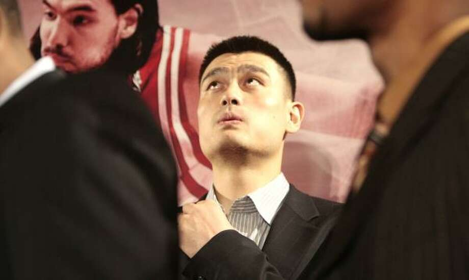 Much of the NBA's success in China can be attributed to one person: Rockets center Yao Ming. Photo: Billy Smith II, Chronicle