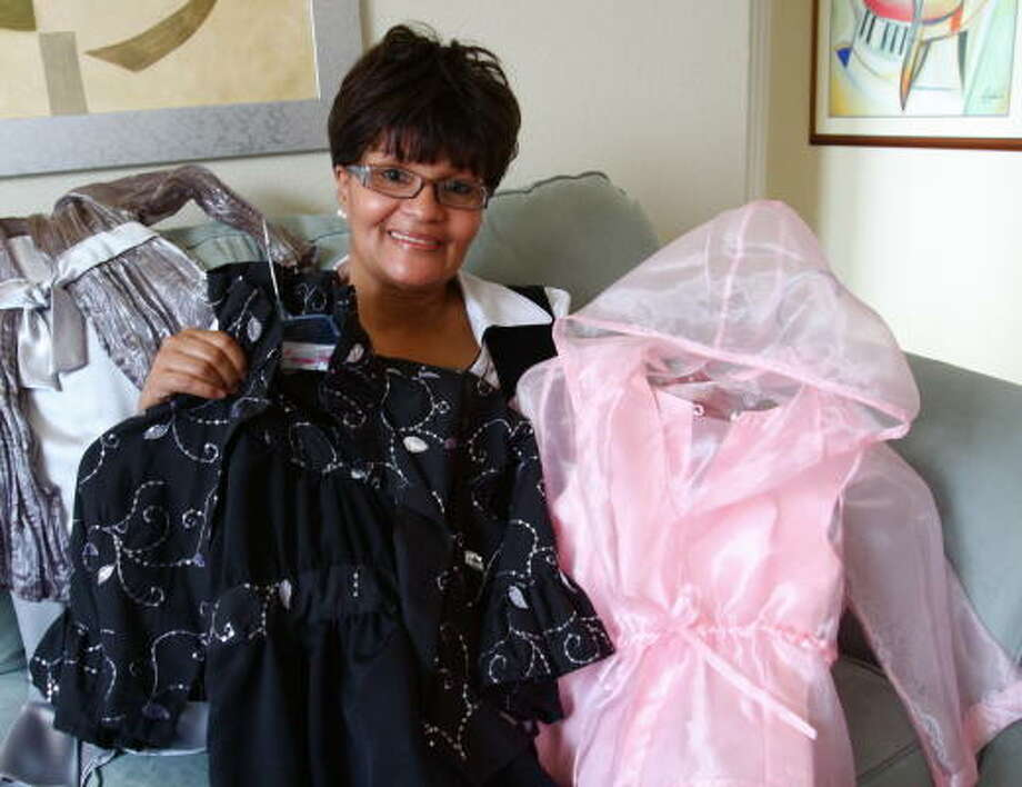 Rhonda Washington of Stafford is launching a girls clothing line as part of a foundation in memory of her deceased granddaughter, Najia Diara Rayal. Photo: Suzanne Rehak, For The Chronicle