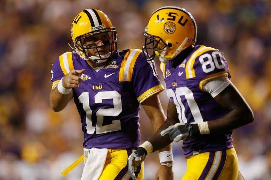 Jarrett Lee, left, and Terrence Toliver have given LSU plenty of big plays this season. Photo: Chris Graythen, Getty Images