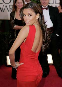 "Eva Longoria, nominated for best actress in a musical or comedy television series for her work on ""Desperate Housewives,"" arrives for the 63rd Annual Golden Globe Awards on Monday, Jan. 16, 2006, in Beverly Hills, Calif. Photo: KEVORK DJANSEZIAN, AP / AP"
