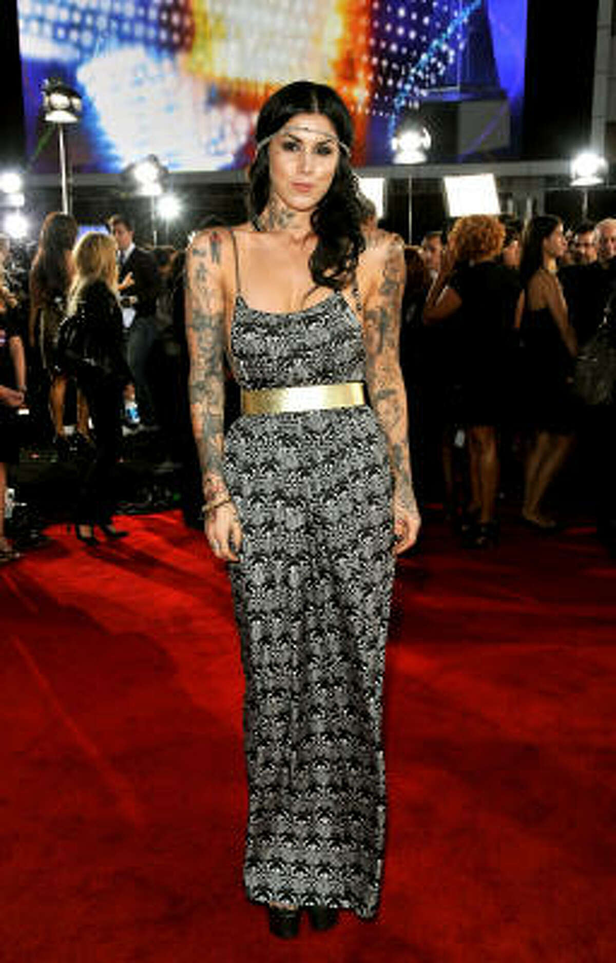 Kat Von D stars in LA Ink and a spinoff, Miami Ink. She also is offering a new line of makeup at Sephora.