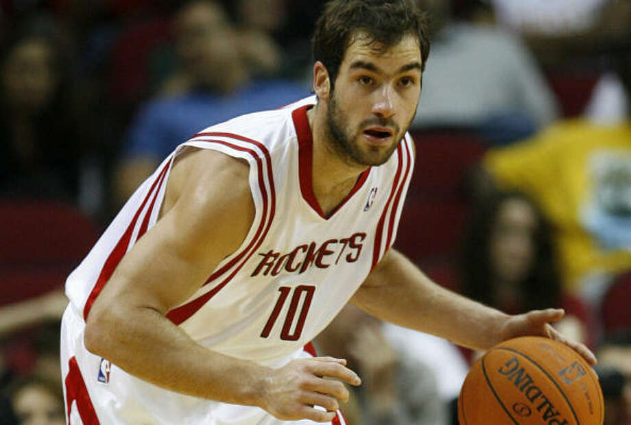 Vassilis Spanoulis has said he plans to stay in Greece instead of returning to the Rockets next season. Photo: James Nielsen, Chronicle