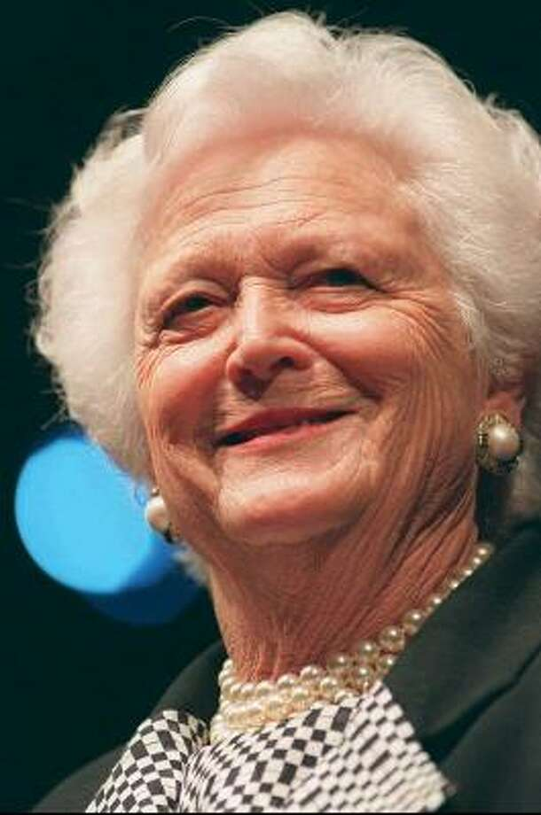 Barbara Bush in 1997. Photo: PHILIP BARR, The Birmingham News
