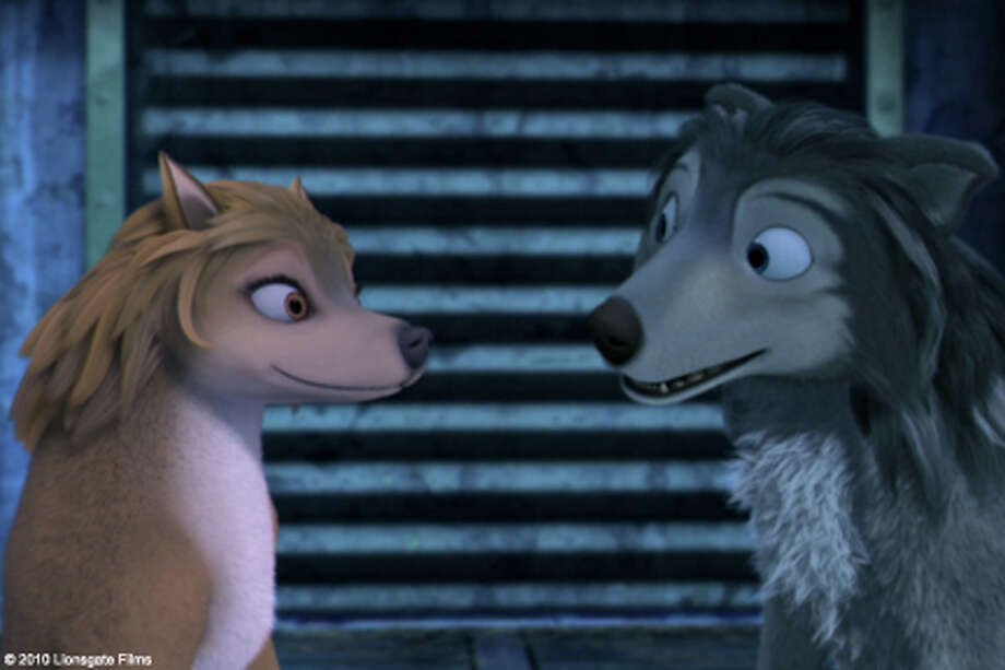 """(L-R) Kate and Humphrey in """"Alpha and Omega."""""""