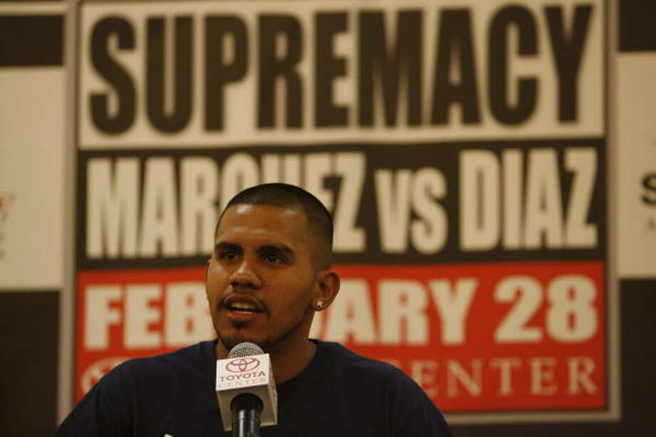 Juan Diaz will have his second fight at Toyota Center in less than half a year. Photo: Julio Cortez, Chronicle
