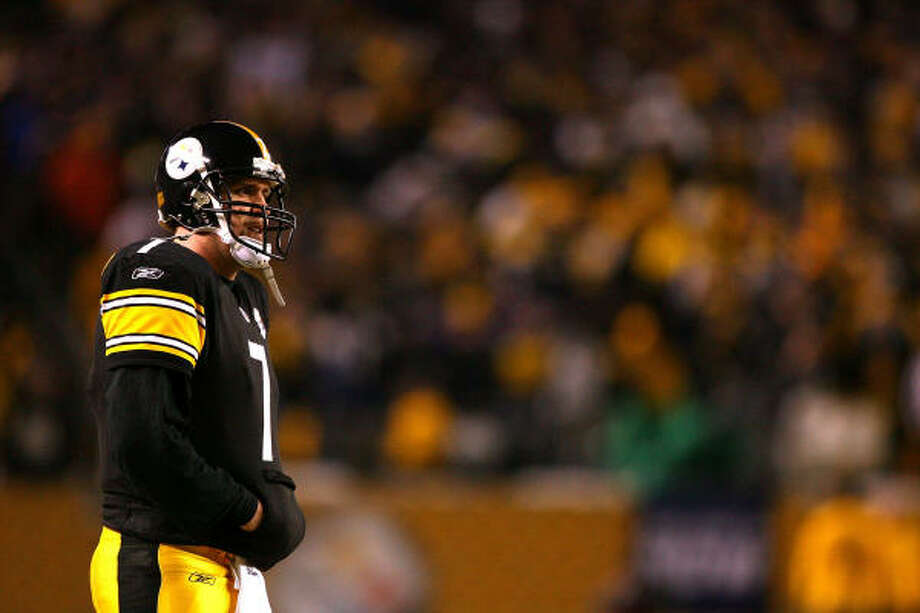 Pittsburgh's Ben Roethlisberger watches the action during the Steelers' AFC title win over Baltimore. Photo: Al Bello, Getty Images