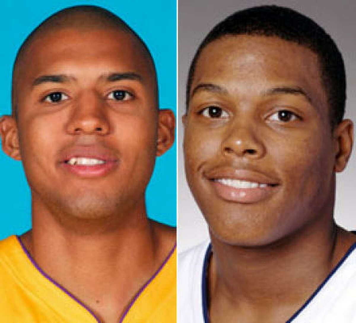 The Rockets are getting Brian Cook, left, from the Magic and Kyle Lowry from the Grizzlies.