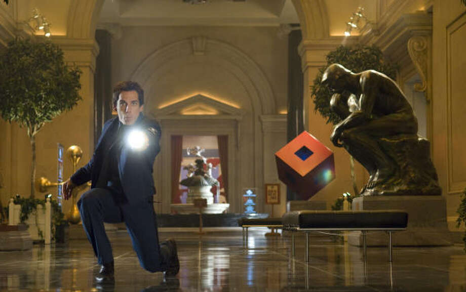 "Museum guard Larry Daley (Ben Stiller) searches for ""true happiness"" amid chaos in Night at the Museum. Photo: DOANE GREGORY :, BLOOMBERG NEWS"
