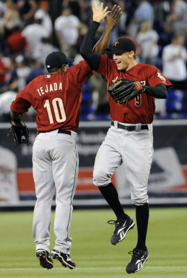 Shortstop Miguel Tejada and right fielder Hunter Pence will represent the Astros at the July 14 All-Star Game in St. Louis. Photo: Jim Mone, AP