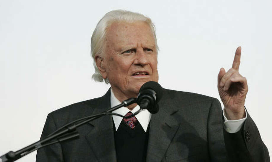 The Rev. Billy Graham Photo: Stephen Chernin, Getty Images