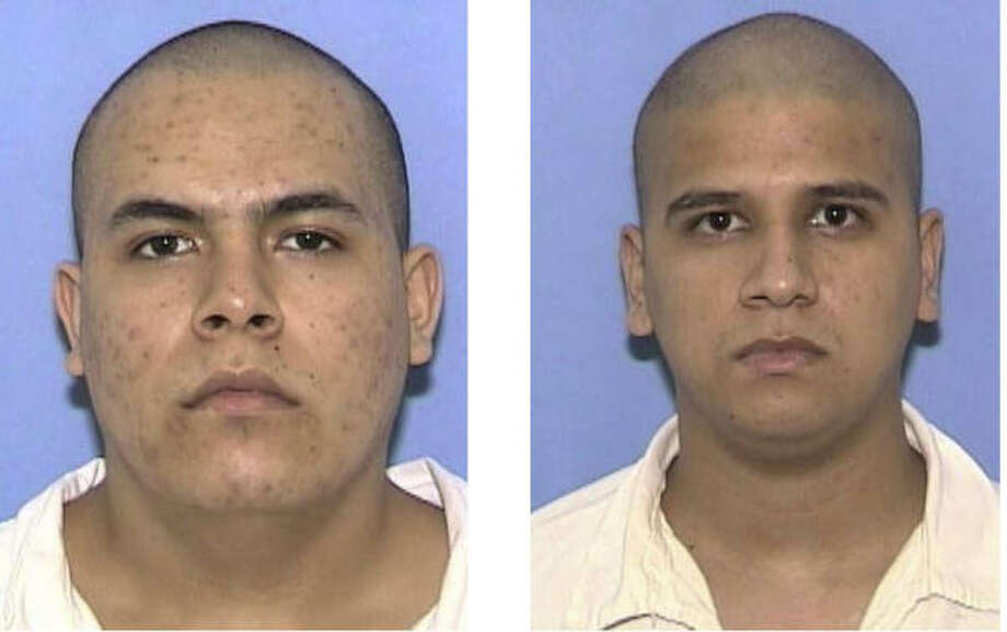 Escaped inmates Jose Fernando Bustos-Diaz, 21, left, and Octavio Ramos Lopez, 27. Photo: AP