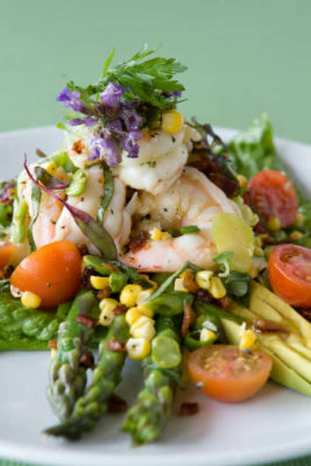 Summer corn citrus shrimp salad Photo: Melissa Phillip :, Chronicle