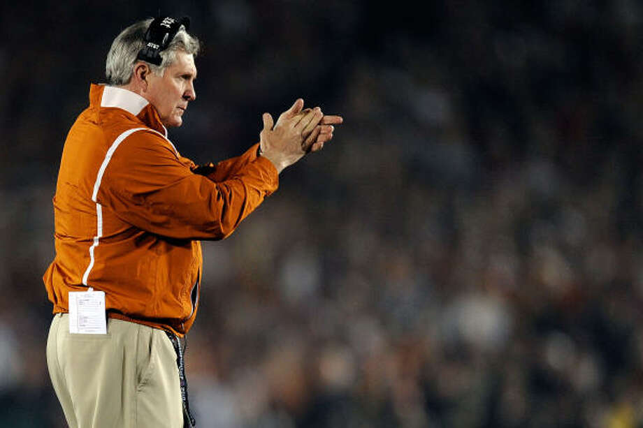 Mack Brown's football program was driving the entire realignment discussion. Photo: Kevork Djansezian, Getty Images