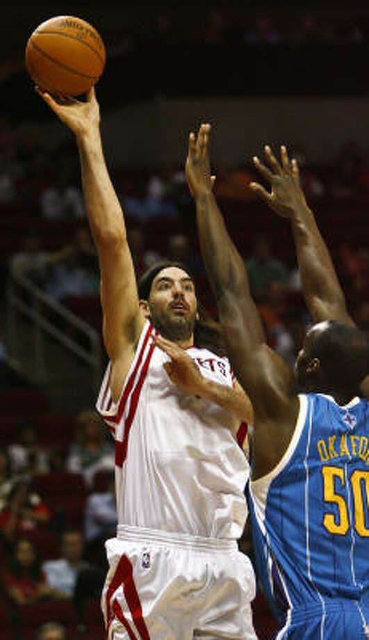 Luis Scola averaged 16.2 points and 8.6 rebounds for the Rockets last season. Photo: Michael Paulsen, Chronicle
