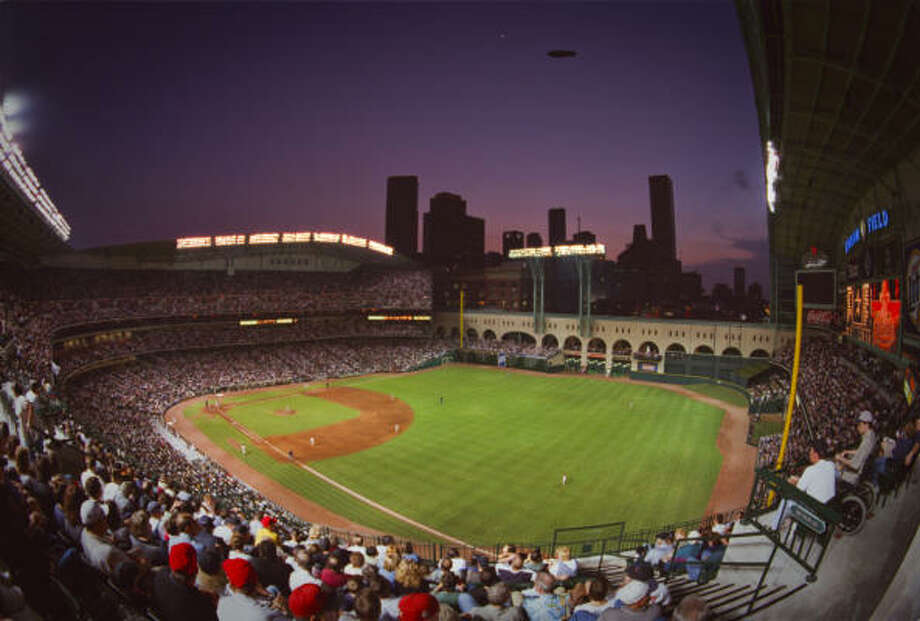 Many fans will dream of leaving Minute Maid Park with a baseball from the game, but the reality is few will be in the right place at the right time. Photo: Smiley N. Pool, Chronicle