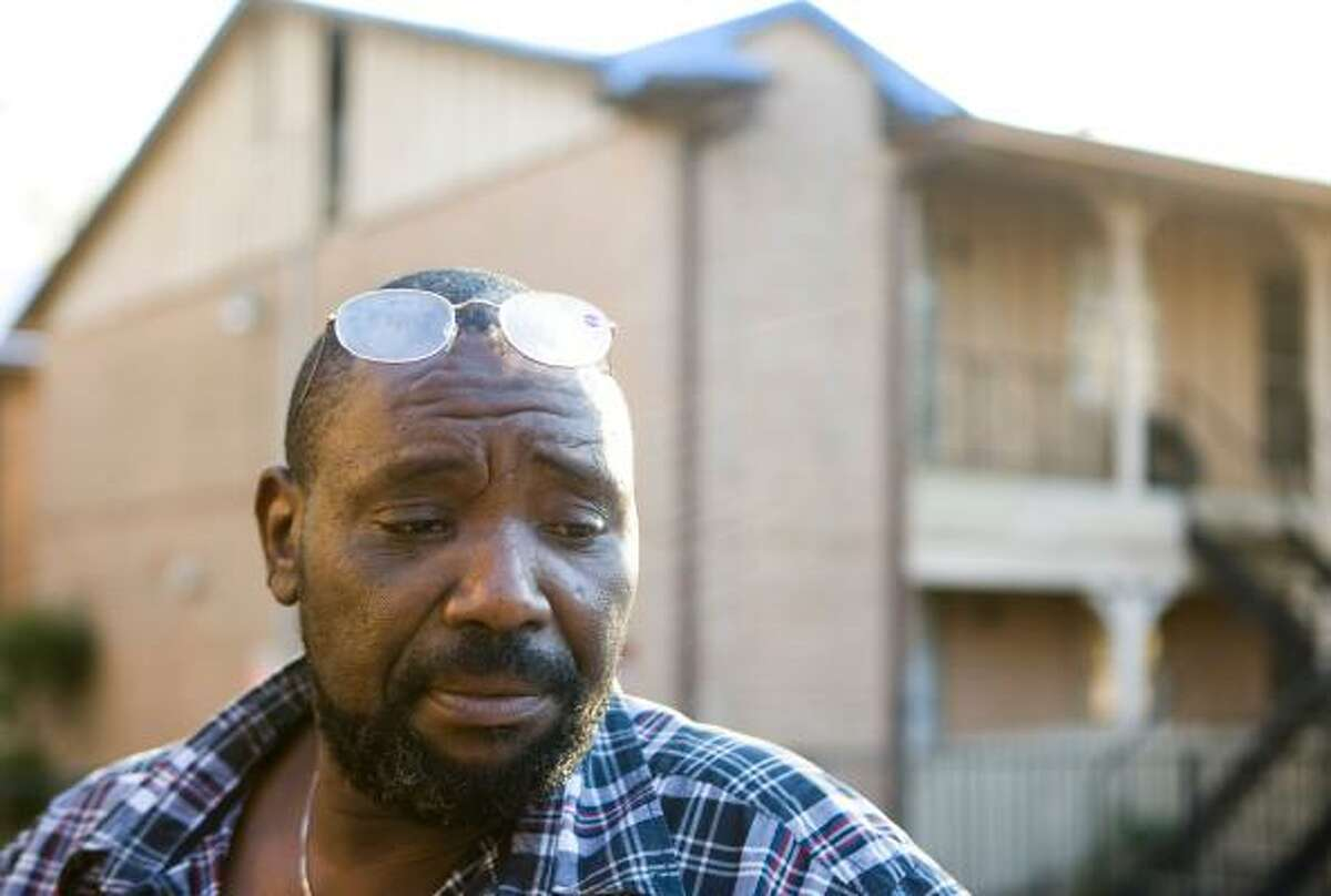The Vista Bonita Apartments in southeast Houston have been Willie Fortune's home for 22 years. Now Fortune, who is disabled, worries that his limited holiday savings will be spent on moving costs.