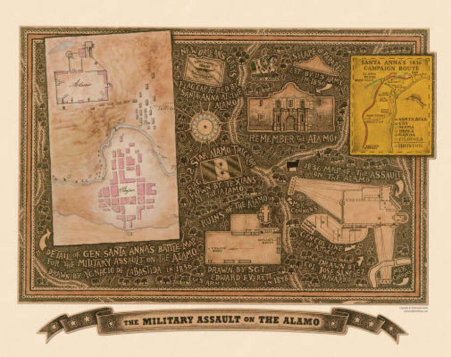 Chris Smith maps the Alamo. Photo: COURTESY PHOTO