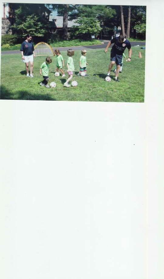 Some of the youngest campers participate at the Packer Soccer Camp. Photo: Contributed Photo