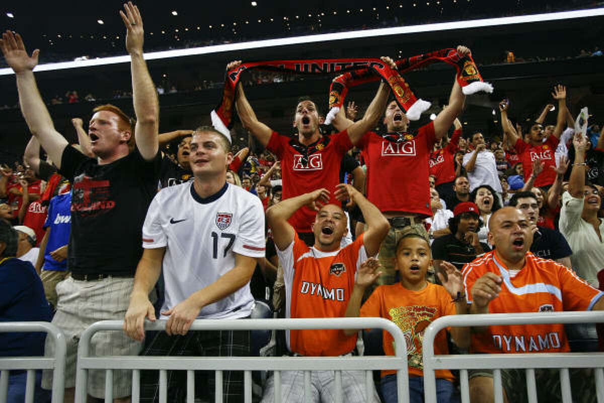The match at Reliant Stadium set a record for attendance for an MLS All-Star Game.