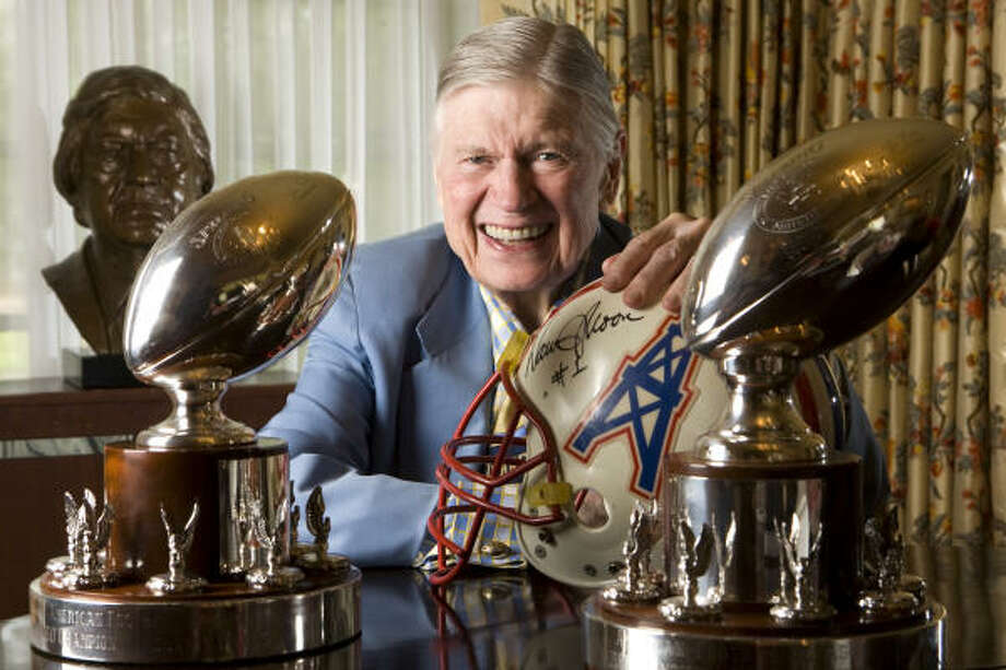 Bud Adams' Oilers won the first two American Football League titles, and Adams has a treasure trove of memories from the last 50 years. Photo: Brett Coomer, Chronicle