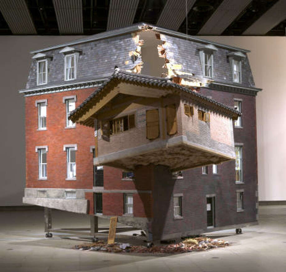 Buildings and cultures collide in korean artists work