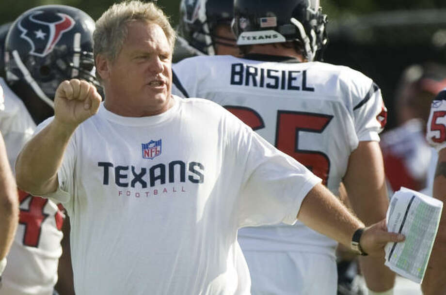 Texans fans had been calling for the job of defensive coordinator Richard Smith for the better part of the season. Photo: Brett Coomer, Chronicle