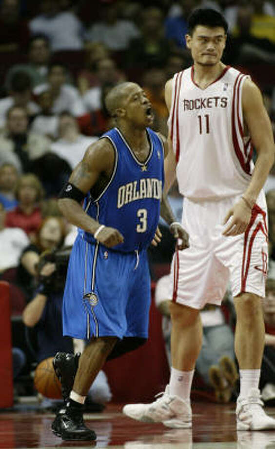 Could Yao Ming and Steve Francis be reunited? The Rockets could find out as early as Thursday. Photo: Kevin Fujii, CHRONICLE