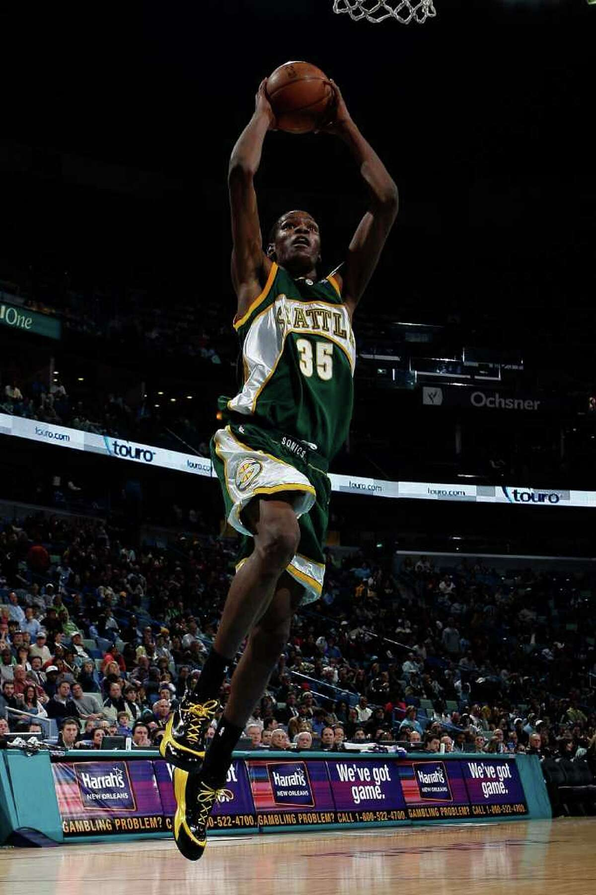Kevin Durant: Sure, he only played one season in KeyArena before the team relocated, but Durant was the lone bright spot in a season that saw the front office strip the team of its Seattle roots. Ray Allen and Rashard Lewis? Gone. So that left the team in the hands of the 19-year-old Durant, who, came away with the Rookie of The Year Award. He averaged 20.3 points per game, breaking a rookie record that had stood since the inaugural season when Bob Rule averaged 18.1. Sadly, Seattle isn't able to enjoy the success of both its old franchise and the new face of it. Durant has led the NBA in scoring for the past two seasons.