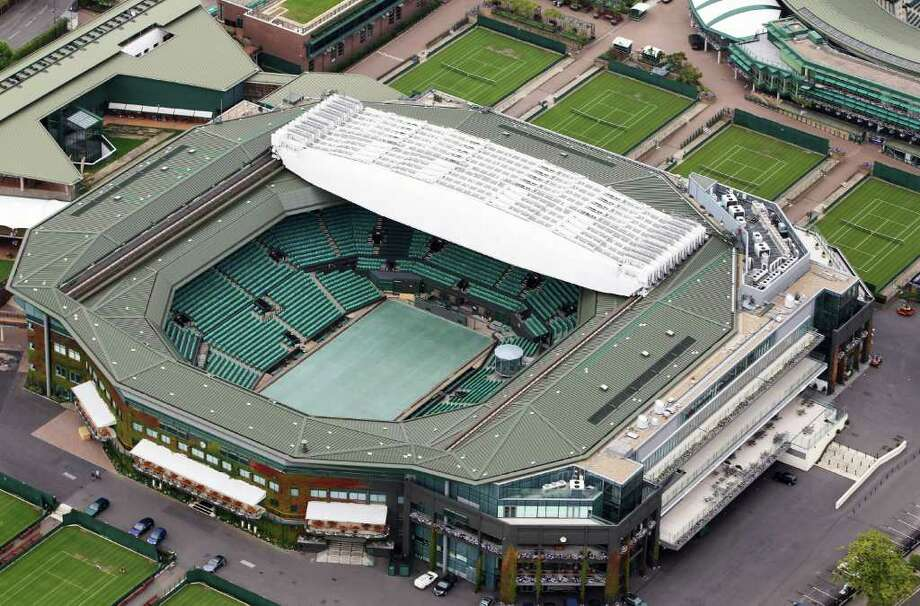 LONDON, ENGLAND - JULY 26:  Aerial view of Wimbledon, home of AELTC which will host the Tennis events during the London 2012 Olympic Games on July 26, 2011 in London, England.  (Photo by Tom Shaw/Getty Images) Photo: Tom Shaw, Getty Images / 2011 Getty Images