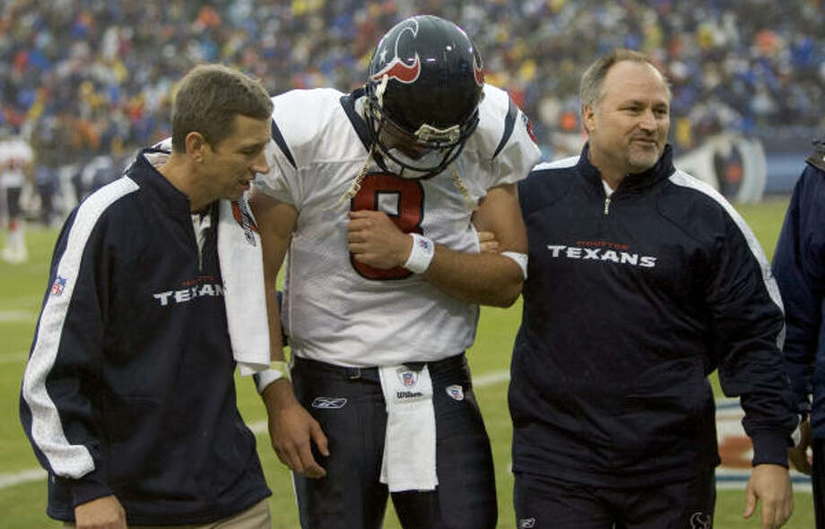 The Titans series has not gone well. Matt Schaub was hurt last year at LP Field, and the Texans have only two wins against Tennessee. Photo: Brett Coomer, Chronicle