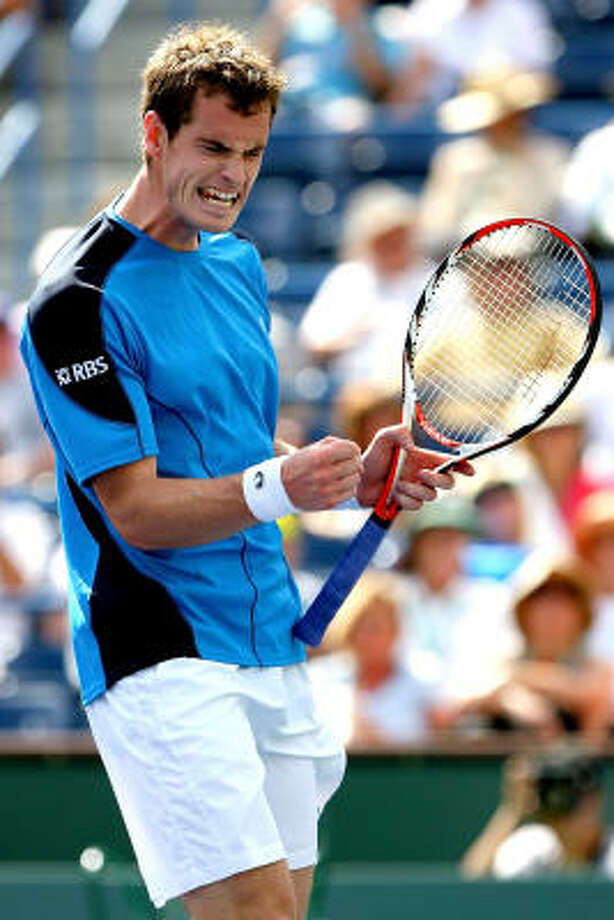 Andy Murray celebrates match point against Ivan Ljubicic. Photo: Matthew Stockman, Getty Images