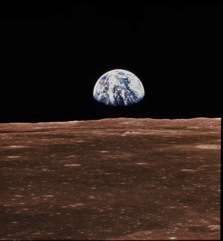 The Earth rises above the lunar horizon in this photo taken in 1968 from the Apollo 8. Photo: NASA