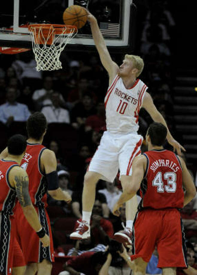 The Nets found out Saturday that Chase Budinger is quite capable, even if he doesn't resemble a typical NBA dunker. Photo: Pat Sullivan, AP