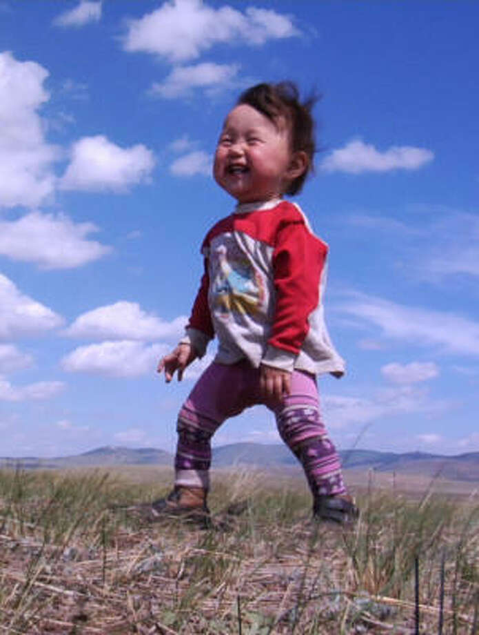 Bayarjargal, who lives in Mongolia with his family, is one of four babies followed from birth to their first steps in the documentary Babies. Photo: Focus Features