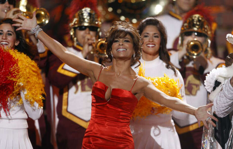 Paula Abdul enjoys her time in the spotlight during the 2008 season finale of American Idol. Photo: Mark Mainz, AP | Fox