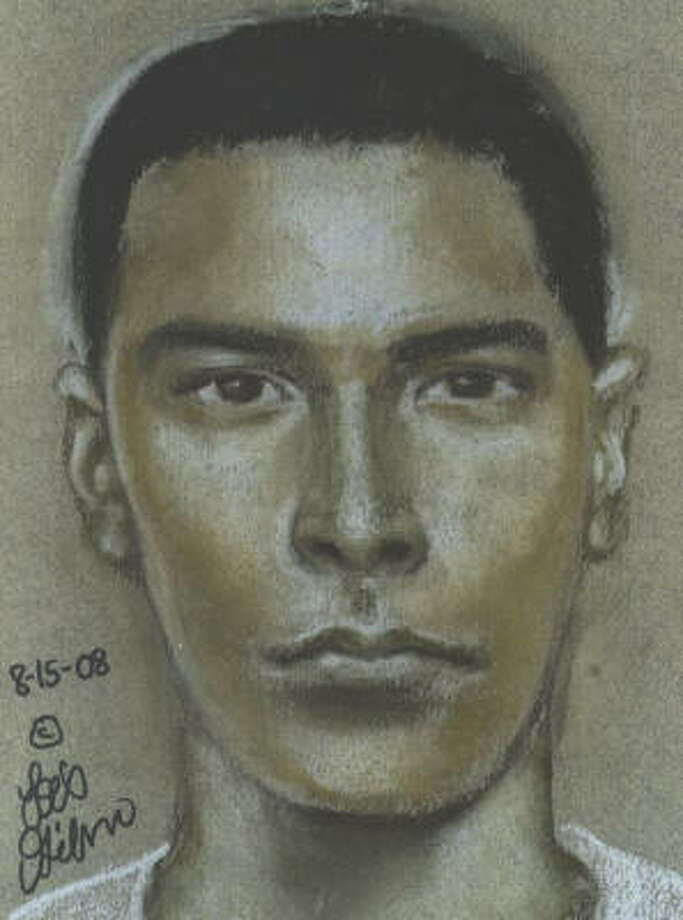 This is a sketch of a man suspected in a shooting on July 19, 2008, in the 6200 block of Marinette. Photo: Crime Stoppers