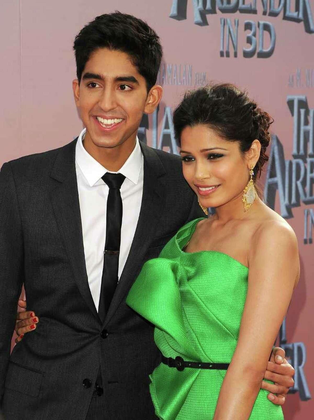 "Dev Patel and Freida Pinto met while filming ""Slumdog Millionaire."""