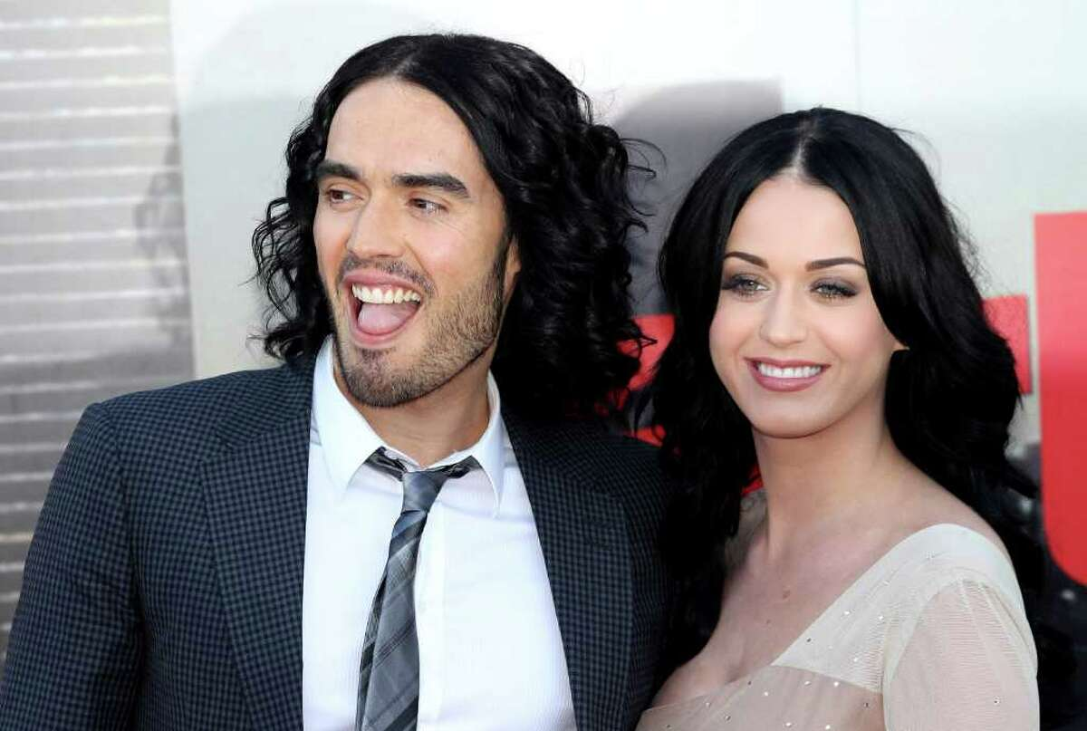 Katy Perry and Russell Brand met on the set of the film