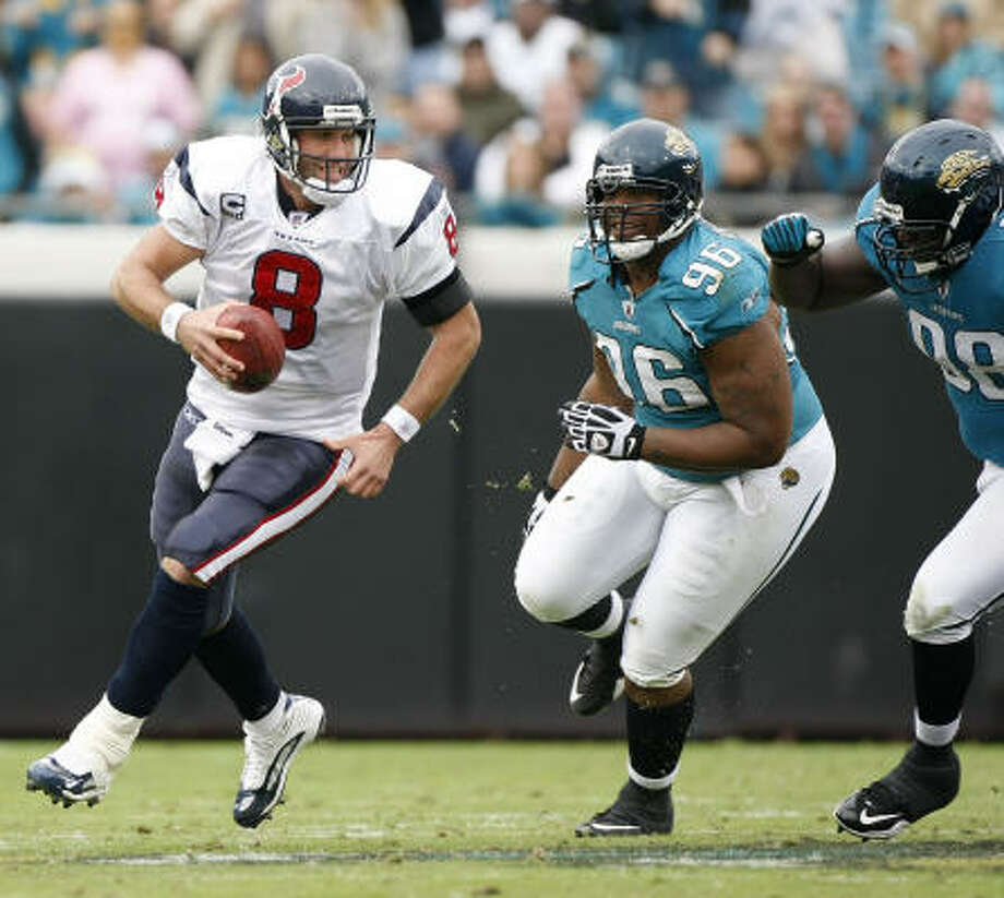 The Texans always believed Matt Schaub was capable of this level of play if he could stay on the field. Photo: Nick De La Torre, Chronicle