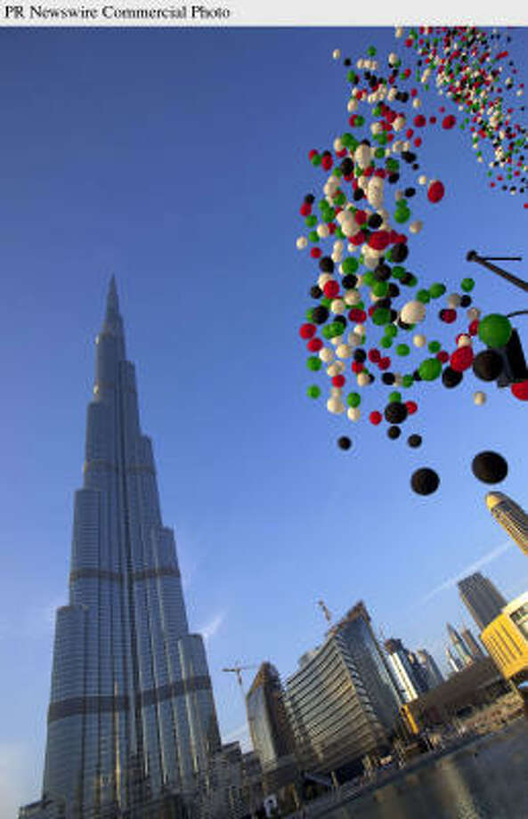 Dubai celebrated the opening of the Burj Khalifa, the tallest building in the world, on Monday. Photo: CHARLES VERGHESE, PR NEWSWIRE