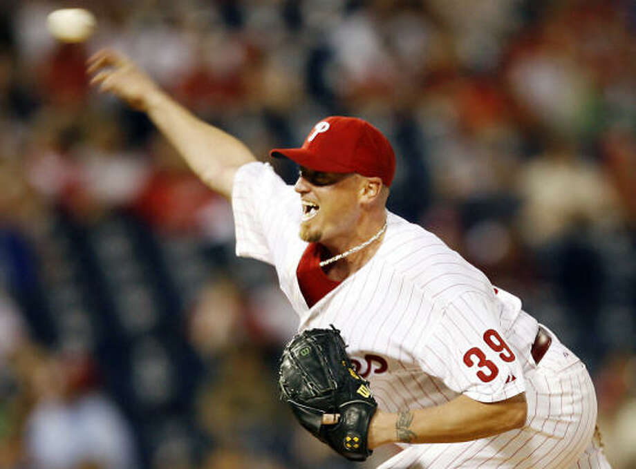 Former Phillies pitcher Brett Myers will be a candidate for one of the spots in the Astros' rotation. Photo: Tom Mihalek, AP