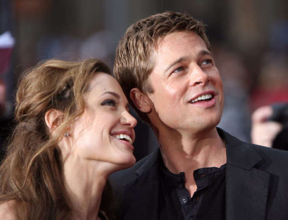 With a combined income of $50 million, glamorous couple Brad Pitt and Angelina Jolie came in third on the list Photo: GABRIEL BOUYS, AFP/Getty Images File