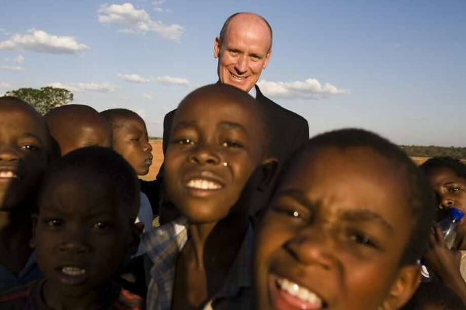 Dr. Mark W. Kline, program director of the Pediatric AIDS Corps in Houston, traveled to Lilongwe, Malawi, in 2006 for the dedication ceremonies for Baylor College of Medicine's clinical center for children.  Photo: Smiley N. Pool, Chronicle File