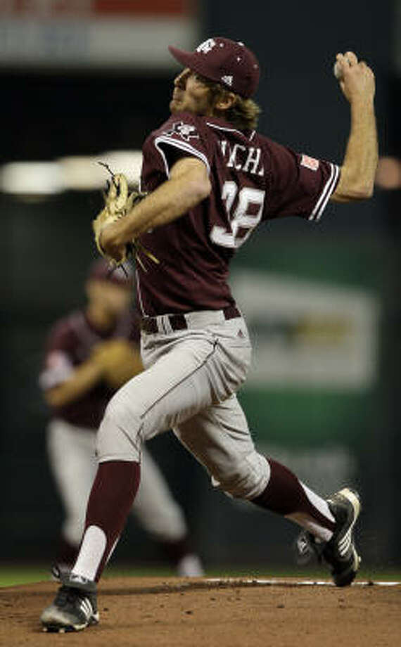 The top-seeded Aggies take on fourth-seeded Wright State behind Matt Wacha and his 2.37 ERA. Photo: Bob Levey, For The Chronicle