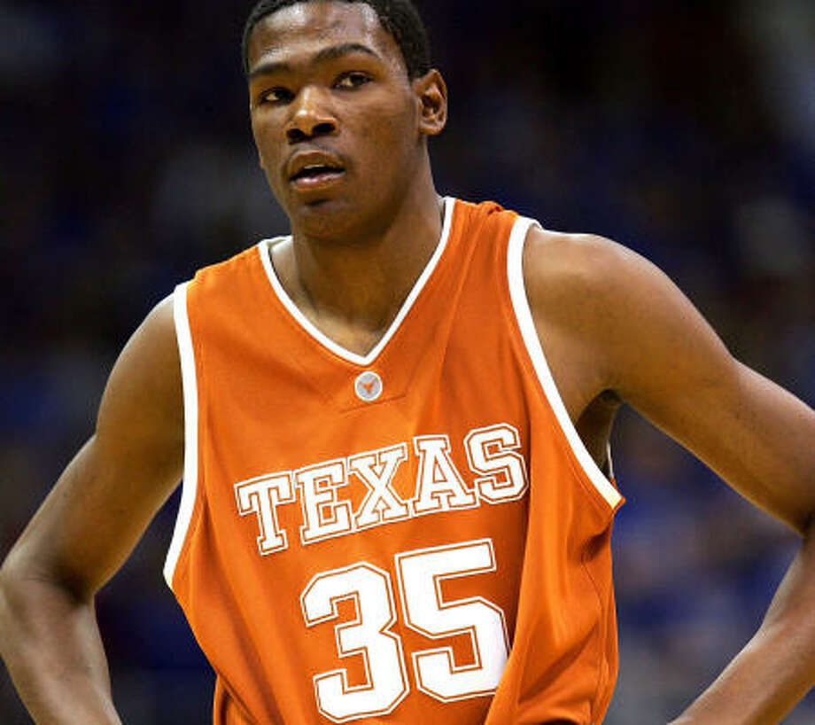 Kevin Durant wasn't at UT for long, but it was long enough to have his number retired. Photo: Jamie Squire, Getty Images