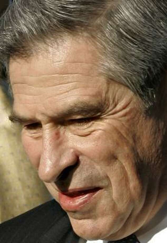 World Bank President Paul Wolfowitz says he's been held up to public ridicule. Photo: J. SCOTT APPLEWHITE, ASSOCIATED PRESS